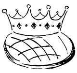 Coloriage Couronne et galette des rois