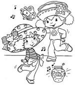 Coloriage Charlotte aux Fraises danse