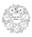 Coloriage Mandala Fleurs F�te des M�res