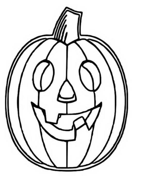 Coloriage Halloween Citrouille 4
