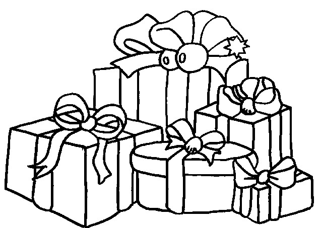 Coloriage Noel Cadeaux De Noel 4