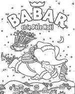 Coloriage Babar et le P�re No�l