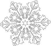 Coloriages flocons de neige bonjour les enfants - Dessin flocon de neige simple ...