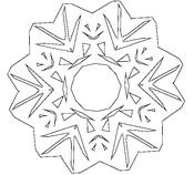 Coloriage Flocons de neige