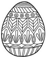 Coloriage Grand oeuf de Pâques