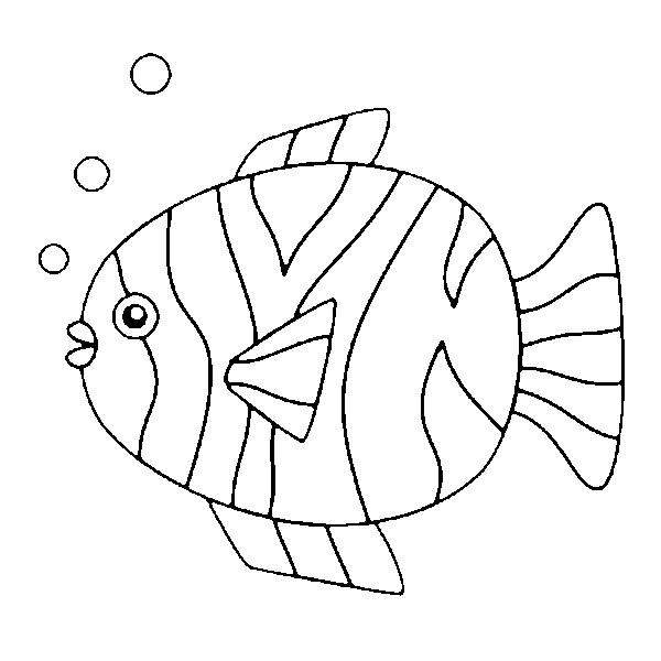 Coloriage poisson d 39 avril 5 for Immagini di pesci da colorare