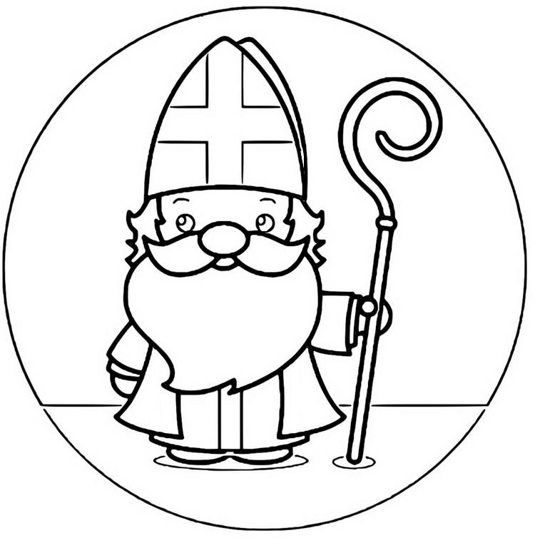 Coloriage Saint Nicolas 107