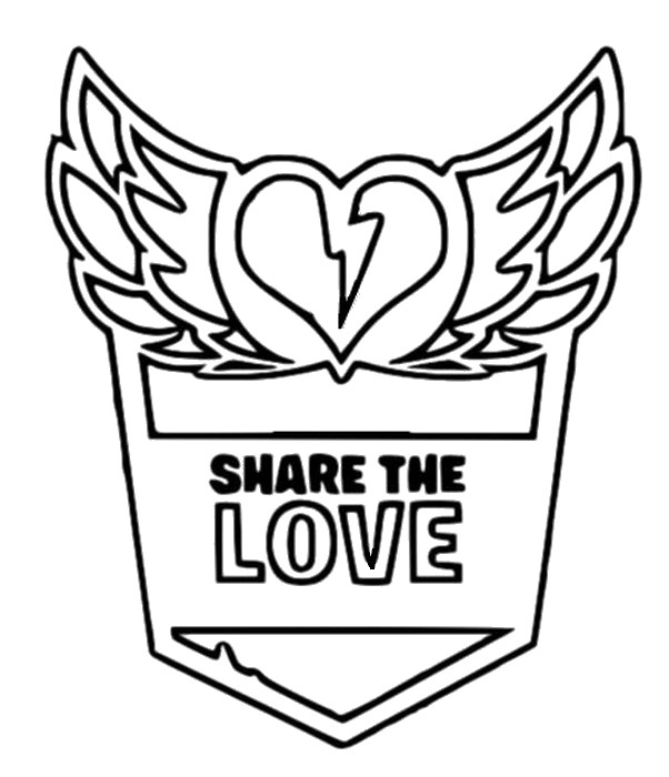 Coloriage Fortnite Share the love - Saint Valentin