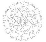 Coloriage Mandala cœurs Saint-Valentin