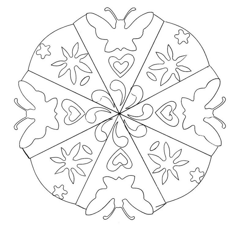 Coloriage Mandalas Mandala Fleurs Et Papillons 4