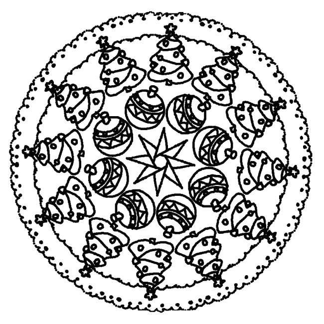 Coloriage mandalas pour noel mandala sapin de no l 9 - Mandalas noel ...