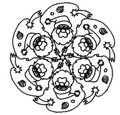 Coloriage Mandala P�re No�l