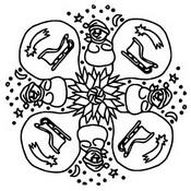 Coloriage Mandala Bonhommes de Neige