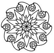 Coloriage Mandala Etoiles et Boules de No�l