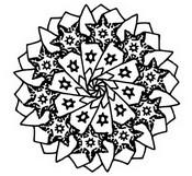Coloriage Mandala Etoiles de No�l