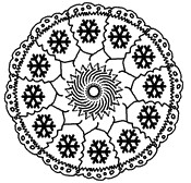 Coloriage Mandalas No�l