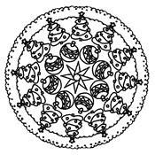 Coloriage Mandala Sapin de Noël
