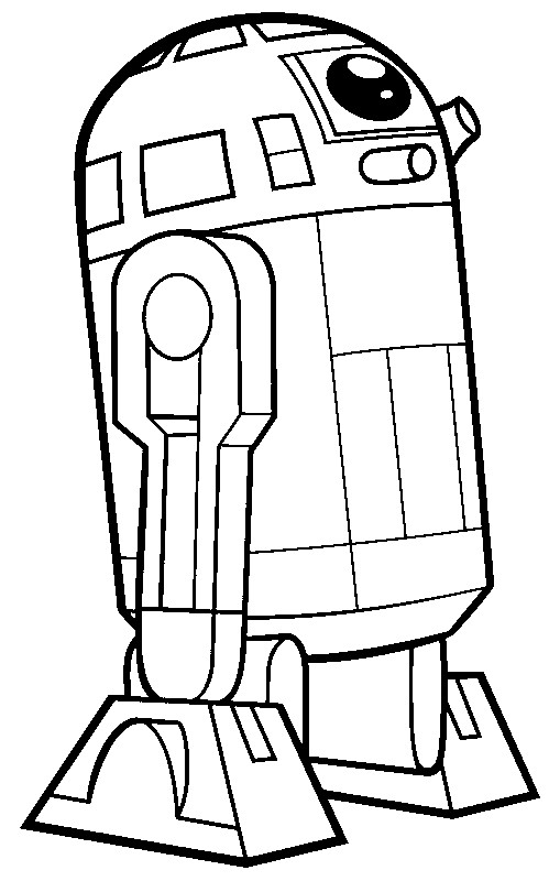 Coloriage clone wars r2 d2 6 - Dessin lego star wars ...