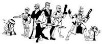 Coloriage Tous les personnages Clone Wars