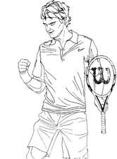 Coloriage Roger Federer