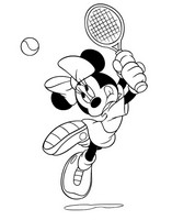 Coloriage Tennis Minnie