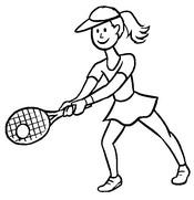 Coloriage Joueuse de tennis