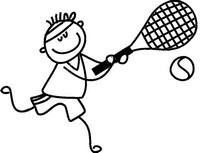 Coloriage Joueur de tennis