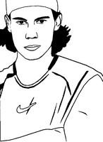 Coloriage Rafael Nadal