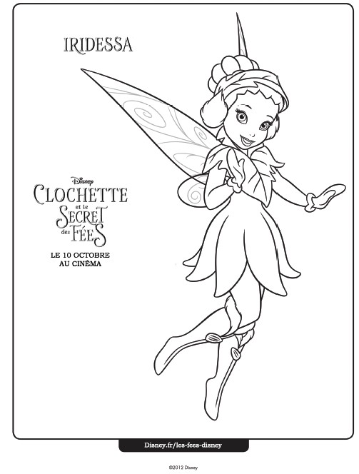Coloriage fee clochette 10 - Coloriage fee clochette ...