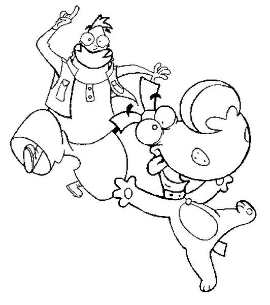 Coloriage dessins animes gulli corneil et bernie 1 - Coloriage gulli ...