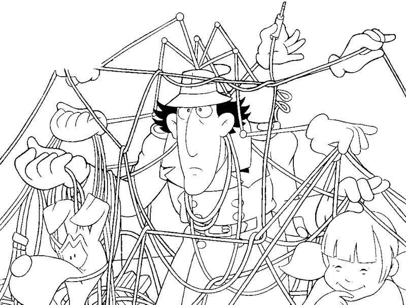 Coloriage dessins animes gulli inspecteur gadget 1 - Inspecteur gadget dessin anime ...