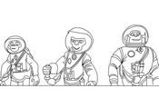 Coloriage Chimpanzes de l'espace