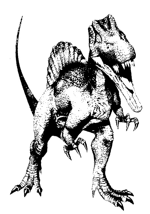coloriage dinosaur k - Dinosaure Colorier