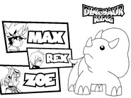Coloriage D-Team - Dinosaur King