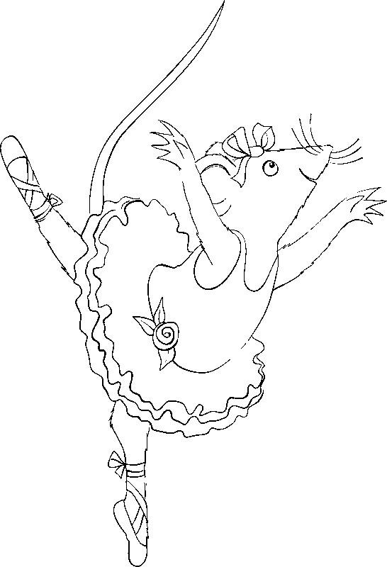 Coloriage Dessin Anime Ballerina.Coloriage Dessins Animes France 5 Les Zouzous Angelina Ballerina 1