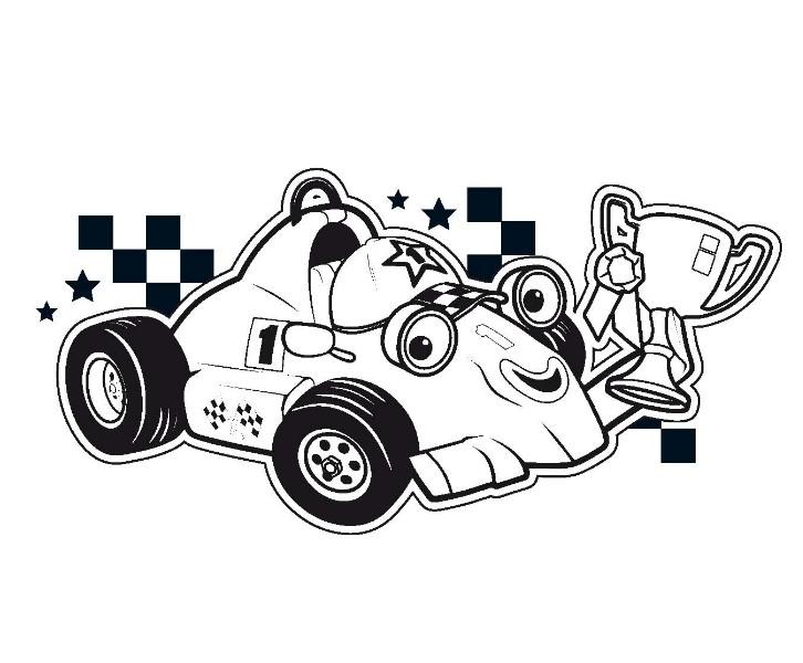 coloriage dessins animes france 5 les zouzous roary voiture de course 1. Black Bedroom Furniture Sets. Home Design Ideas