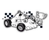 Coloriage Roary, voiture de course