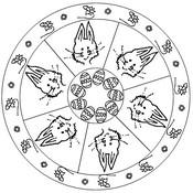 Coloriage Mandala Lapin de Pâques