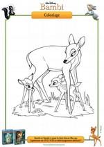 Coloriage Coloriage Bambi et sa maman