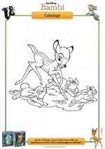 Coloriage Coloriage Bambi et les lapins