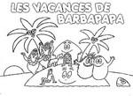 Coloriage L'île des Barbapapa