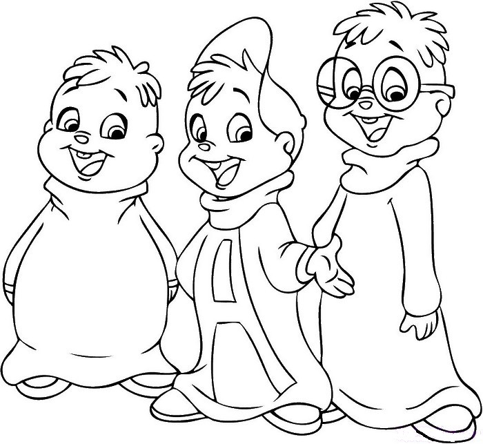 Coloriage Cinema Alvin Les Chipmunks