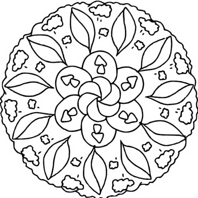 Coloriage mandalas automne coloriage mandala automne 5 for Disegni da colorare per adulti paesaggi