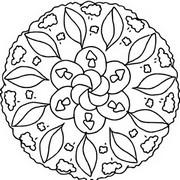 Coloriage Coloriage mandala automne
