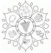 Coloriage Mandala automne