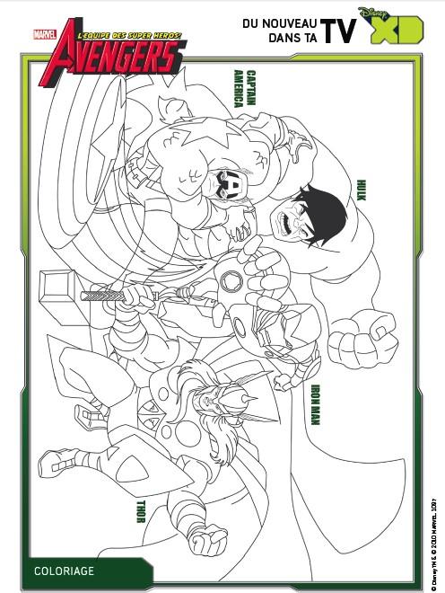 Coloriage Avengers Avengers 3