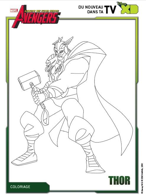 coloriage avengers g - Avengers Coloriage