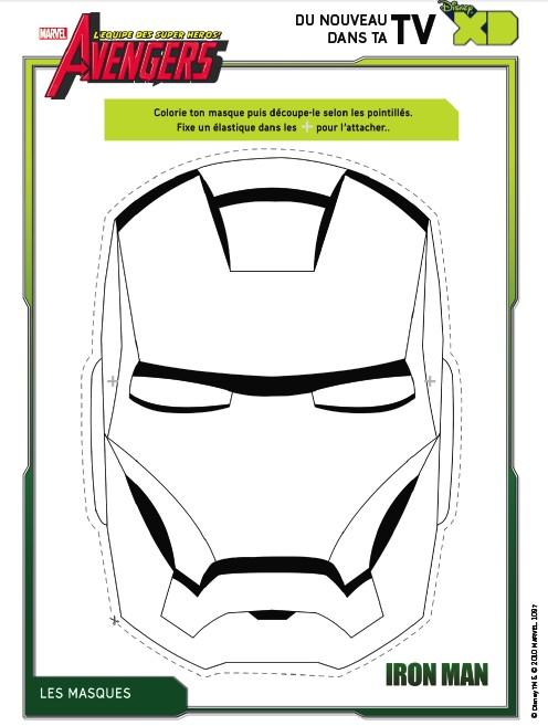 coloriage avengers  masque iron man 8