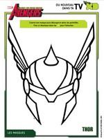 Coloriage Masque Thor