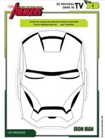 Coloriage Masque Iron Man